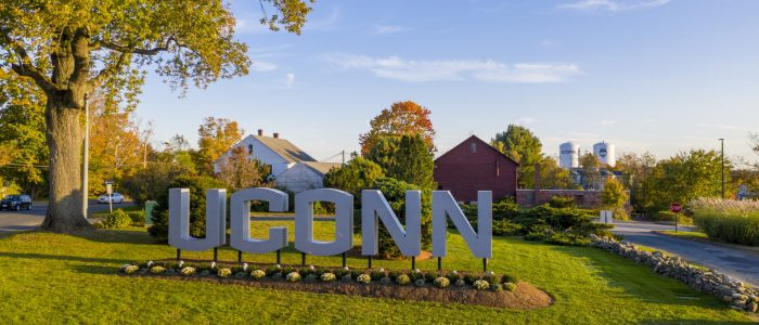 uconn welcome sign
